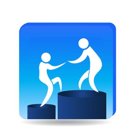 Climbing to success goals icon  Illustration