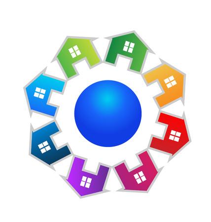 townhouses: Casas de dise�o del mundo vectorial