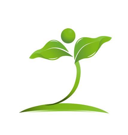 Natürliche Gesundheitsversorgung Symbol Vektor Vektorgrafik