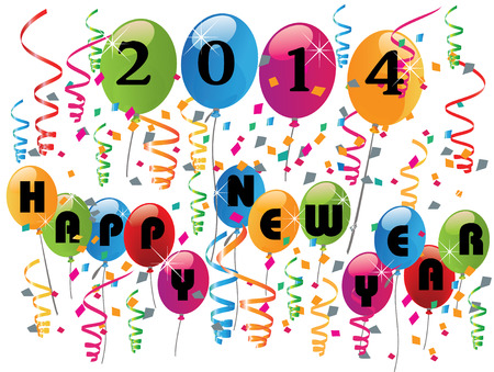2014 Happy new year background vector Stock Vector - 22801599