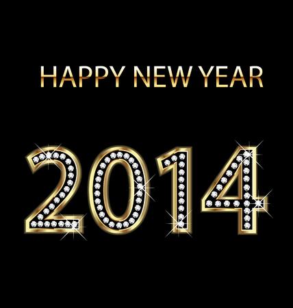 2014 Happy new year background vector Stock Vector - 22801600