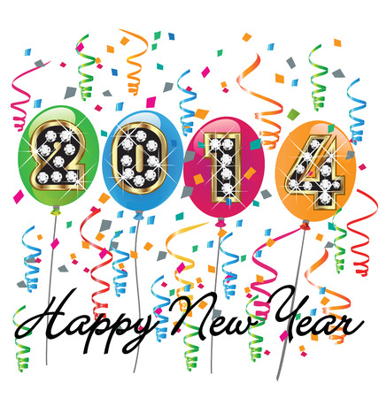 2014 Happy new year background vector Vector
