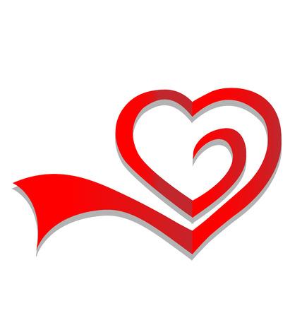 Heart symbol icon vector Vector