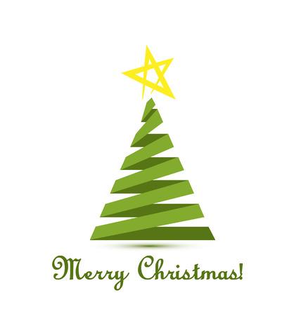 weihnachtskarten: Weihnachtsbaum Vektor