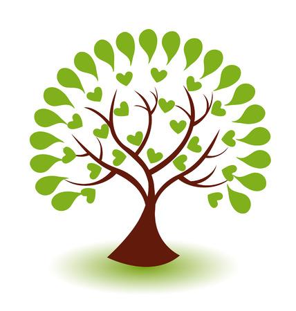 Vecteur icône arbre abstrait illustration