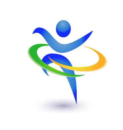 Gezond en gelukkig pictogram vector Stock Illustratie
