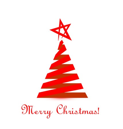 Red Christmas Tree vector Vector