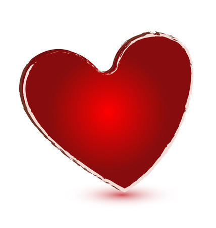 Red grunge heart vector icon Stock Vector - 23041688