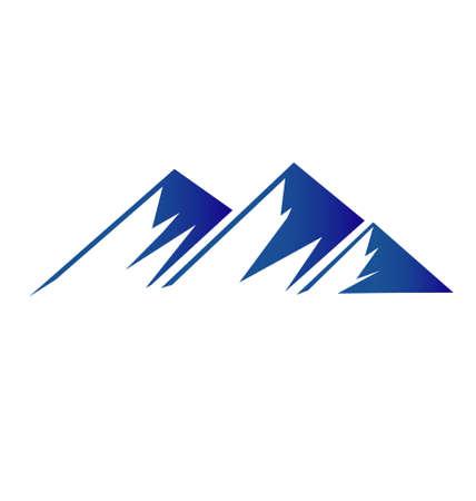山のアイコンの背景のベクトル