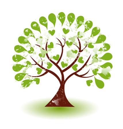 arbol: Vector de grunge abstracto icono del árbol Vectores