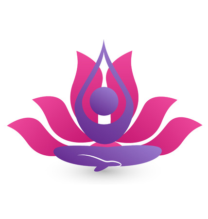 Yoga meditation icon vector