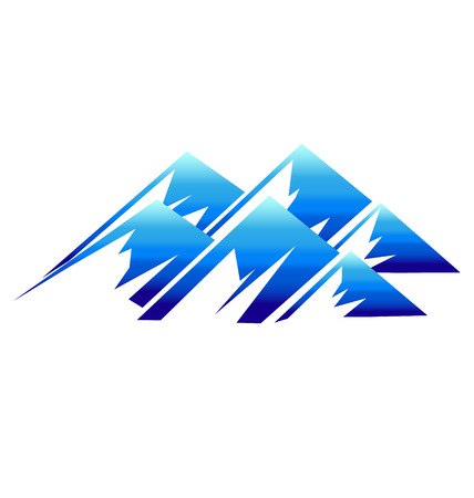 Mountains icon vector