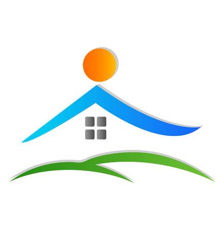 estates: Casa icon vector logo Vectores