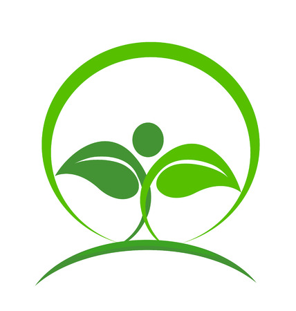 flexible business: Health nature icon vector