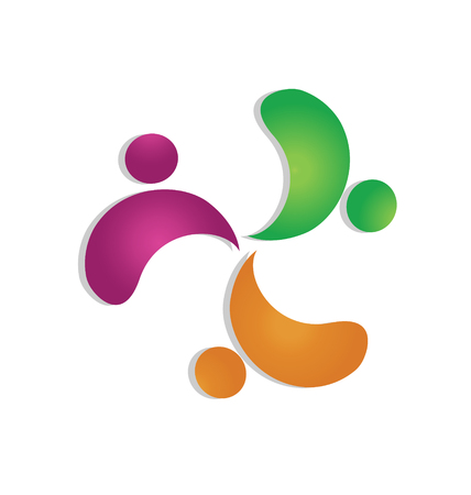 Teamwork support people icon vector Stock Vector - 23321890