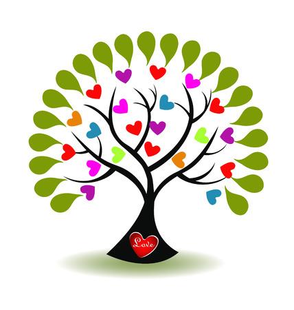 un arbre: Arbre de l'amour vecteur ic�ne Illustration