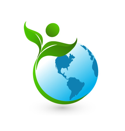 Healthy world icon background Illustration