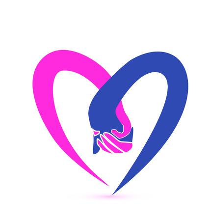 Paarholdinghände Symbol Vektor Standard-Bild - 23657812