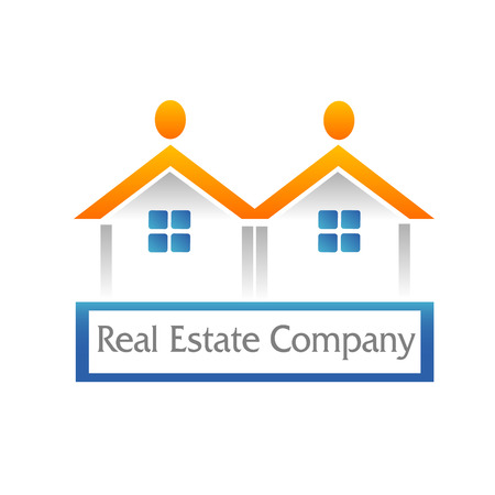 Real estate houses icon figures vector Illustration