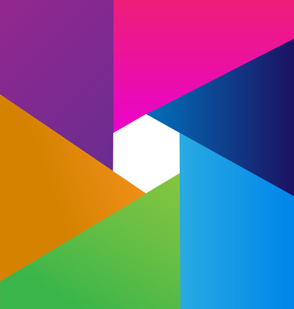 Abstract colorful geometric background photo