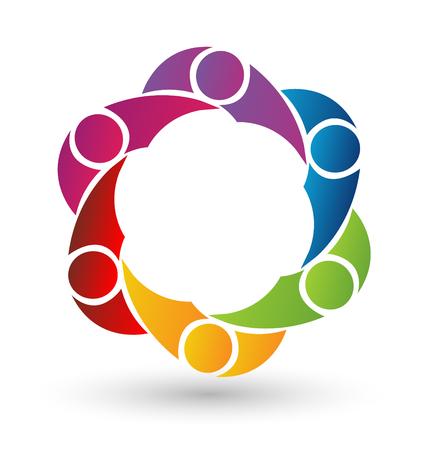 Vector teamwork social media icon Illustration