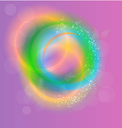 Sparkle circles abstract vector background Vector