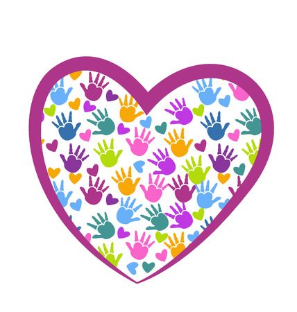 Hands of love vector icon design Çizim