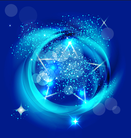 Brilliant blue stars vector Vector