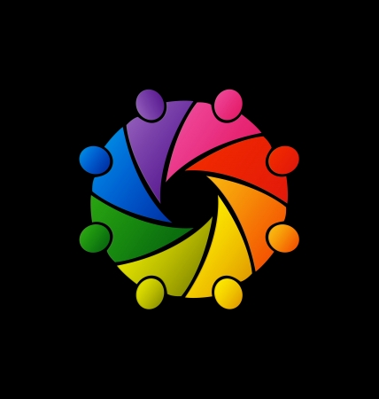 Teamwork diversity people icon