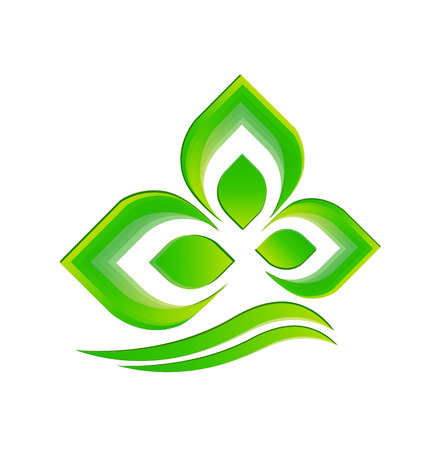 Green plant icon vector background Vector