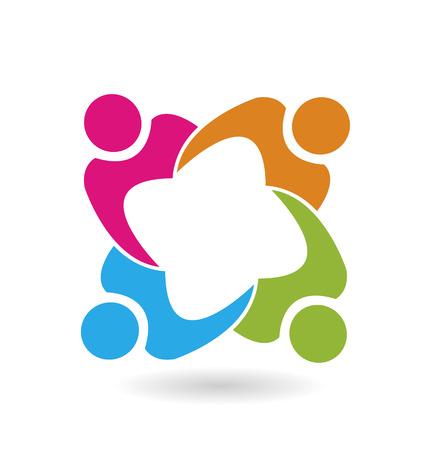 Vecteur de travail d'équipe des gens icône du design Banque d'images - 24754863