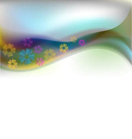 Vector of prairie flowers background design