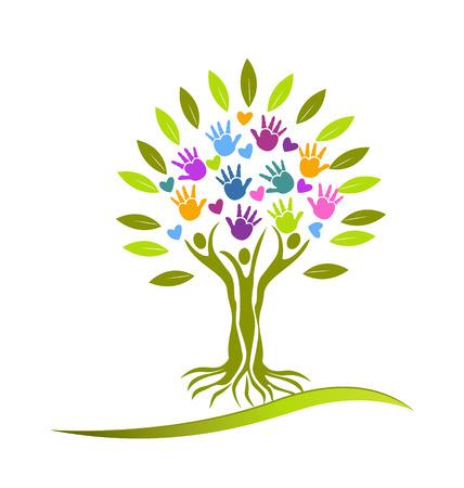 Tree people vector Vettoriali