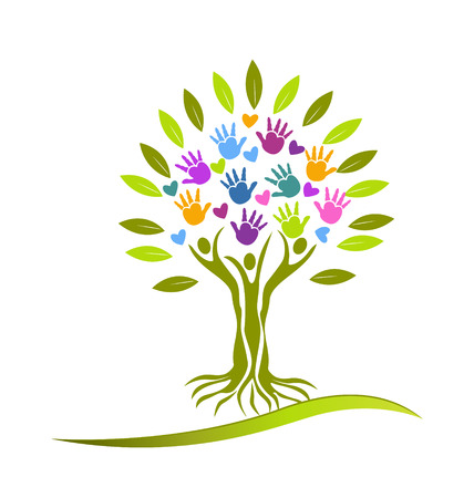 root: Tree people vector Illustration
