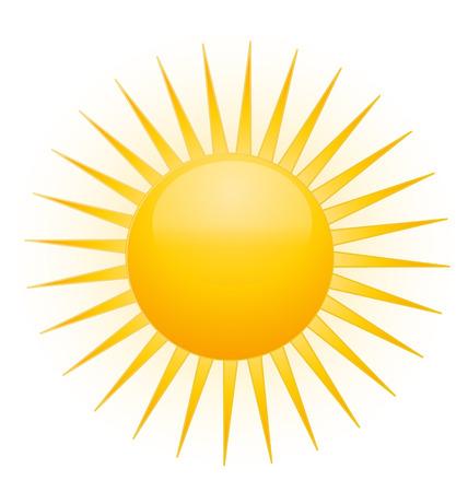 słońce: Słońce wektor ikona