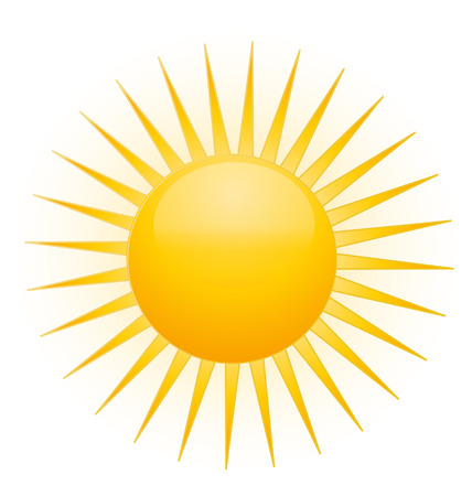 stock clip art icon: Sun icon vector Illustration