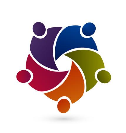 ベクトル グラフィック アイコンのチームワーク
