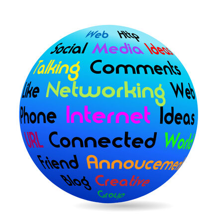Networking business words vector Stock Vector - 25233108