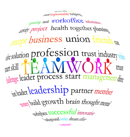 Teamwork words vector
