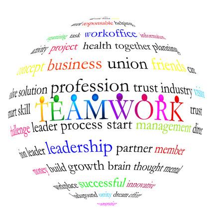 together voluntary: Teamwork words vector