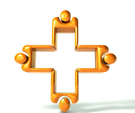 Gold Medical teamwork 3 D image photo