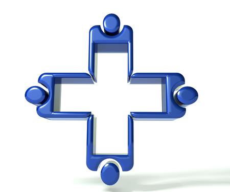 Blue Medical teamwork 3 D glossy image Stock Photo - 25235561