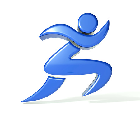 athletic symbol: Fitness figure 3d image  Stock Photo