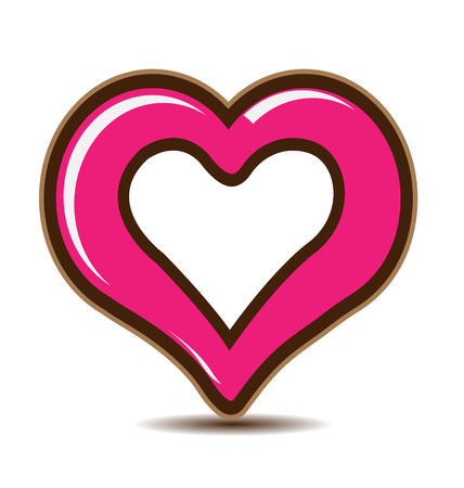 Valentines Day Heart icon vector Vector