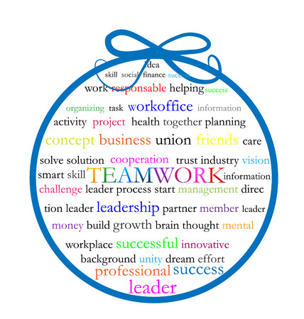 Words teamwork meaning vector icon Vector