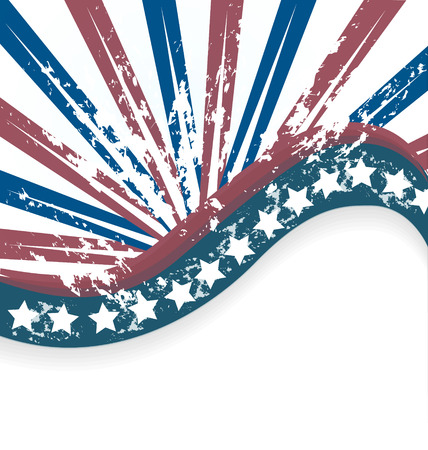 Grunge USA Flag background vector Vector