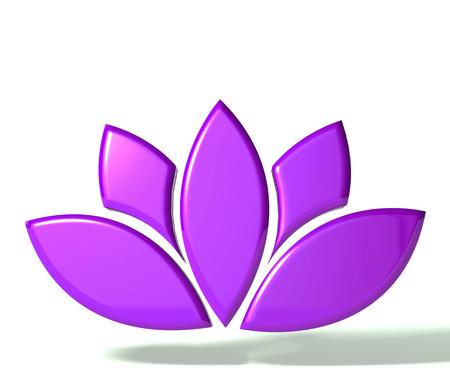 lotus flower: Purple lotus flower 3D image Stock Photo