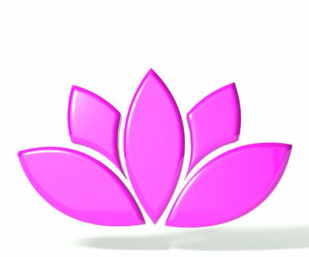 Pink lotus flower 3D image Banco de Imagens