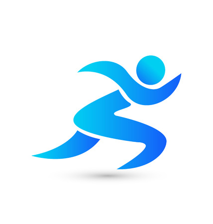athletic symbol: Exercises figurative person icon vector