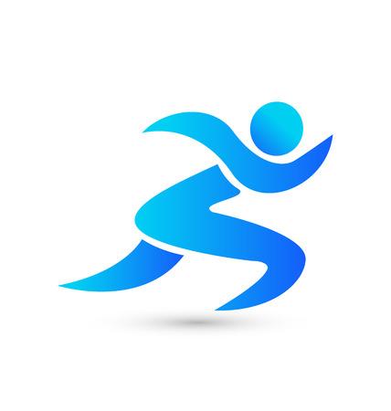 atletisch: Oefeningen figuratieve persoon pictogram vector